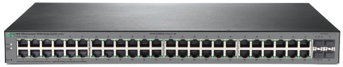 Коммутатор HPE 1920S 48G 4SFP Switch (48x10/100/1000 RJ-45 + 4xSFP, Web-managed, static routing, fanless, 19