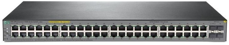 Коммутатор HPE 1920S 48G 4SFP PPoE+ 370W Swch (24x10/100/1000 RJ-45 PoE+ + 24x10/100/1000 RJ-45 + 4xSFP, Web-managed, static routing, 19