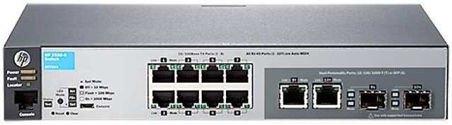 "Коммутатор HPE Aruba 2530 8 Switch (8 x 10/100 + 2 x SFP or 10/100/1000, Managed, L2, virtual stacking, 19"")"