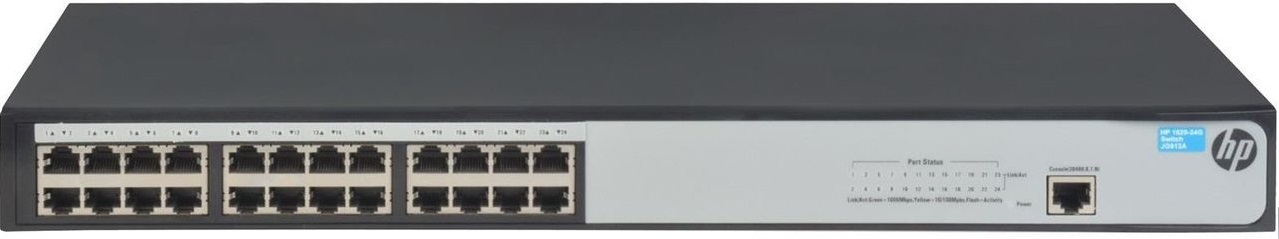 Коммутатор HPE 1620 24G Switch (24x10/100/1000 RJ-45, basic Web, 19