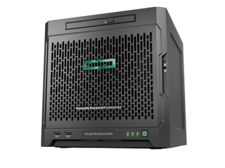 Сервер HP Proliant Microserver Gen10 AMD Opteron X3216 Processor (1.6-3.0GHz/2 compute cores/4 graphic cores/1MB/12-15W), 8Gb DDR4, no HDD (4 LFF NHP) 2x 1Gb/s, 200W, 1-1-1