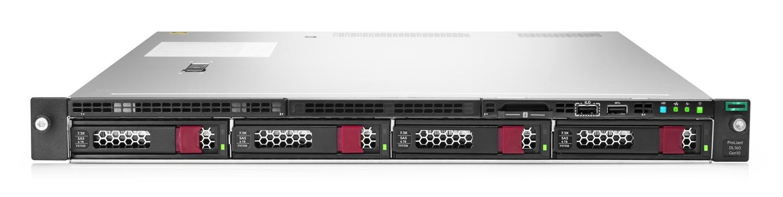 Сервер Proliant DL160 Gen10 Gold 5218 Rack(1U)/Xeon16C 2.3GHz(22Mb)/1x16GbR1D_2933/S100i(ZM/RAID 0/1/10/5)/noHDD(8up)SFF/noDVD/iLOstd/ 3HPfans/2x1GbEth/EasyRK/1x500w(2up)